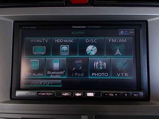 ラジオやCDはもちろん、DVDビデオ再生やフルセグTVやBluetoothなども装備しております!