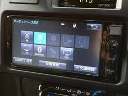 純正SDナビを装備でロングドライブも快適です。TV再生可能!