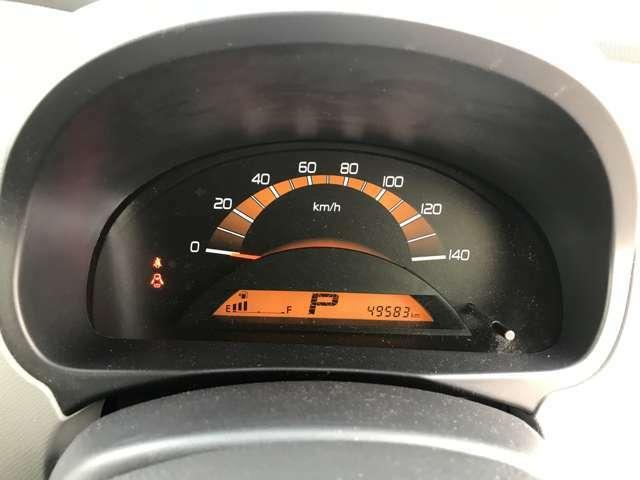 とてもシンプルで見やすいスピードメーターです!
