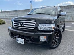 米国インフィニティ QX 56 4WD 黒本革シート/サンルーフ/後席モニター