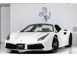 フェラーリ 488スパイダー F1 DCT 認定中古車ホワイトレザー延長保証1年付帯