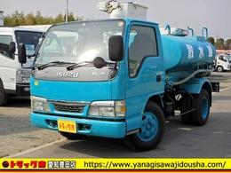 いすゞ エルフ 散水車 2000L 2t 新明和 5MT 吸水・排水ホース付