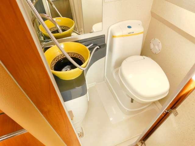 温水シャワー カセットトイレ 洗面台
