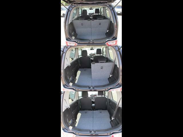 シートはフルリクライニングになります。お気に入りのギアをたくさん積んでソロキャン!車中泊も楽しめそうですね。