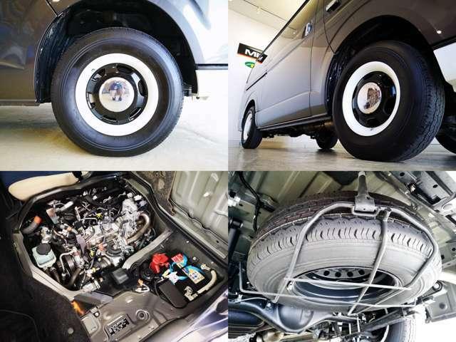 パワフル2.8L ディーゼルターボ 長距離車中泊旅行の燃料代も大事ですからね・・雪道も高速道路も安定の4WD リラク専用のレトロ調のアルミホイルも素敵ですね