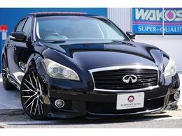 日産 フーガ 3.7 370GT タイプS 黒革純正ナビバックモニタ新品アルミ車高調