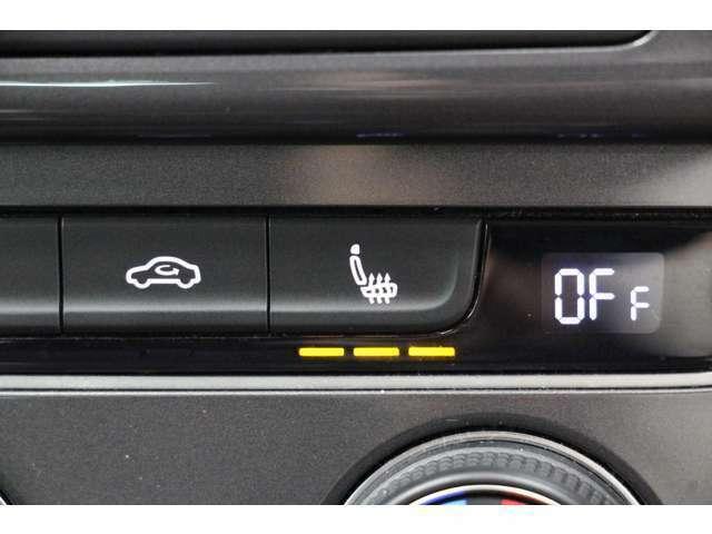 フロントシートは、3段階に調節が可能なシートヒーターを装備しています。 冬場のドライブも快適に過ごせますね☆