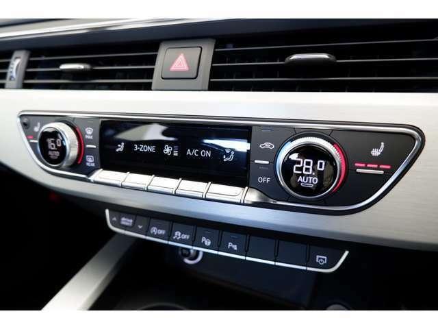 デュアルゾーンオートエアコンを装備しています。運転席側助手席側でそれぞれ温度調節できるのも便利です。