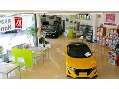 新車店舗ですので、店内には展示車を配置しております!新車・中古車どちででも、お客様のご要望にお応えいたします!