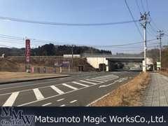 村田インターチェンジICを出て信号を左。サテライト宮城さまへ向かって東北自動車道をくぐります。