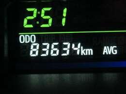 走行距離はおよそ84,000Kmです。