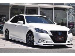 トヨタ クラウンアスリート ハイブリッド 2.5 S ブラックスタイル 新品ROWENエアロ SR 本革シート 車高調