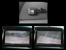 バックモニターは2画面切り替えが出来ます!