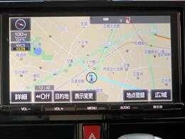 トヨタ純正9インチTコネナビを搭載。もちろん地デジ、DVDも視聴できます。