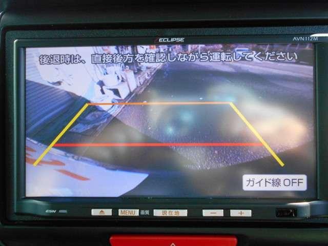 バックカメラ付きです♪バックモニターで後方確認しながら、車庫入れもピッタリ楽々♪^^初心者、女性の方、運転に自信の無い方には頼もしい味方です♪^^
