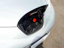 充電ポートには普通充電用と急速充電用の差込口を装備です