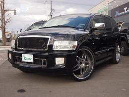 米国インフィニティ QX 56 4WD サンルーフ 26AW ナビTV 貨物登録