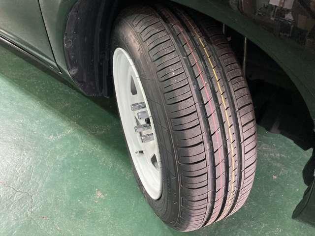 175/65R15 新品タイヤ装着。