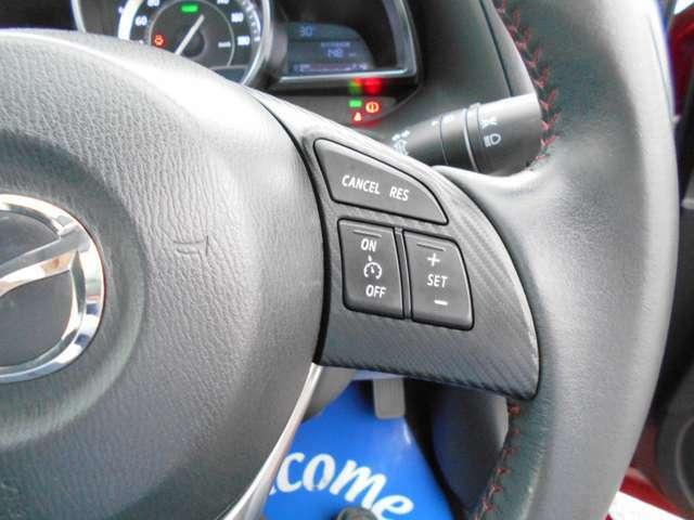 登録した速度に保ち走行するクルーズコントロール付き。高速やバイパスでの運転支援に役立つ便利アイテムです!