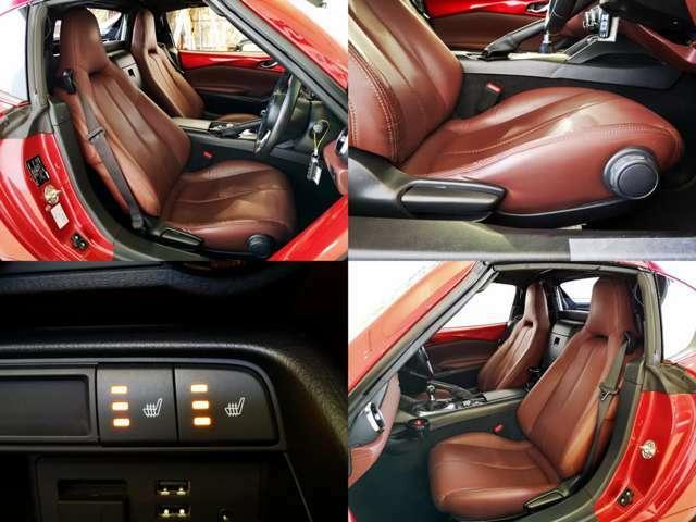 上質な本革シート 気持ちの良い肌触りとシートヒーターが魅力ですね コンディションも良いですよ