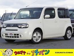 日産 キューブ 1.5 15X FOUR Vセレクション 4WD 夏冬タイヤ サビ無キレい ナビTV Bluetooth