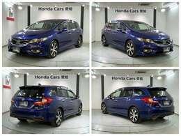 ホンダセンシング ギャザズメモリーナビ 純正AW LEDヘッドライト ETC装備の青色のジェイド RS入庫しました。