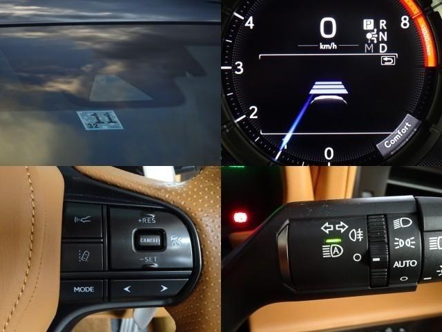万が一の時にも安心!プリクラッシュでブレーキサポートやレーダークルーズで前方車を追従しながら一定の速度を保ってくれたり車線はみ出しでお知らせしてくれる機能などレクサスセーフティプラスの安全機能も完備☆