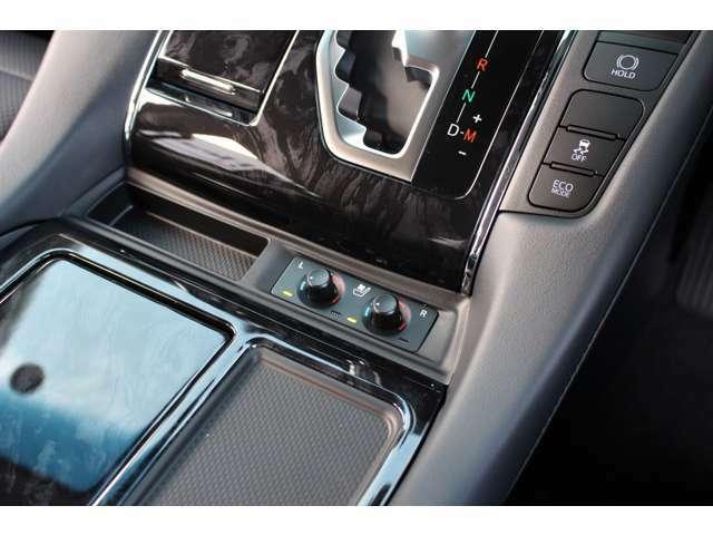 シートには冷風・温熱の機能が装備させています。