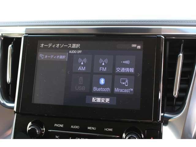 スマートフォンとの連携機能が付いたディスプレイオーディオ搭載☆