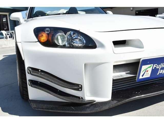 J'sレーシングフロントバンパー装備☆HID・LED等の電装品取り付け等もお気軽にご相談ください♪
