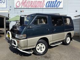 三菱 デリカスターワゴン 2.4 GLX エアロルーフ 4WD Fガード フォグ 1オーナー ガソリン車