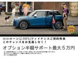 ☆期間限定☆最大5万円のオプションサポート・2.98%金利実施中