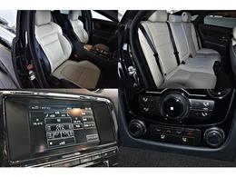 シートはブラックホワイトツートンレザーを選択。F/Rにシートヒーター/エアコンが装備され、Rシートには独立型エアコンが装備されております。サウンドには、MERIDIANスピーカーは装備。