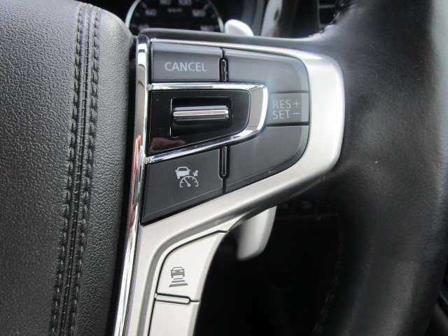 高速道路等定速走行の場合、レーダークルーズコントロールがあると便利です。