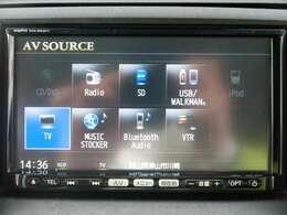 フルセグTVとなっております。また、CD/DVD、USB、Bluetooth、WALKMAN/iPod、ミュージックサーバーに対応しております。