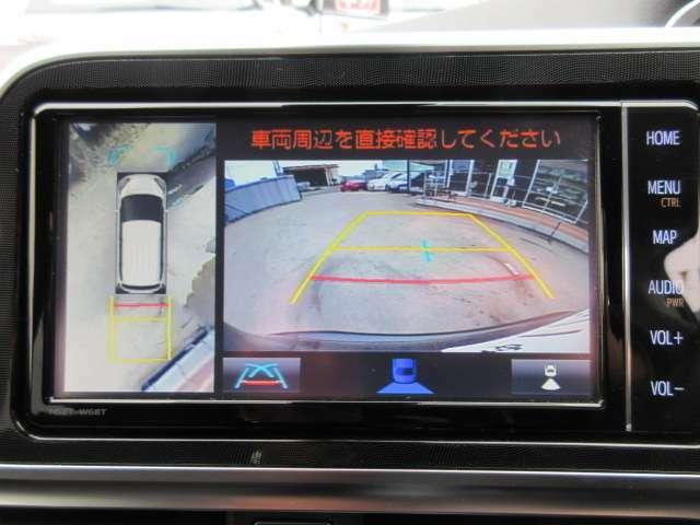 純正SDナビ付き♪ マルチビューカメラ付きで、見えにくい障害物や縁石なども確認ができ、駐車の苦手な方でも安心して運転ができます♪