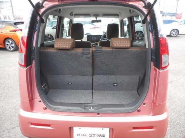 ラゲッジルームは、リヤシートを倒せば、より大容量に使用できます!