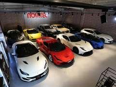 NOVITEC GROUP JAPAN神戸本社ショールームには、世界限定車N-LARGOをはじめNOVITECコンプリートカーを数多く展示しております。