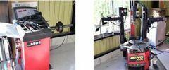 タイヤチェンジャー&ホイールバランサー完備!!大口径のタイヤ交換作業も可能です!!