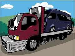 自社、搬送車にて急な故障等もお任せ下さい!!