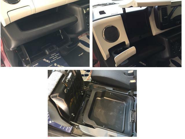 助手席下・インパネ部の収納が充実。手の届くところにちょうど良く収まる設計で便利。
