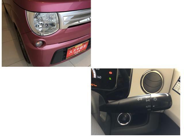 車外が暗くなると自動でライトを点灯するオートライトシステムも装備。