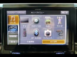 アルパイン10型ナビを装備。フルセグTV、ブルートゥース接続、DVD再生可能、音楽の録音も可能です。