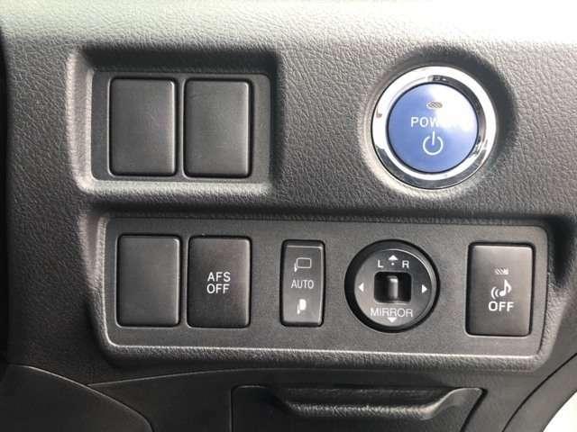 オートリトラミラー機能付きで鍵のロック、アンロックが一目でわかります!!
