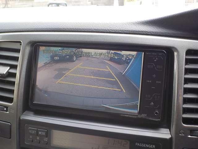 ☆バックカメラも付いていおり、死角の後ろも確認出来バック駐車も楽々です!
