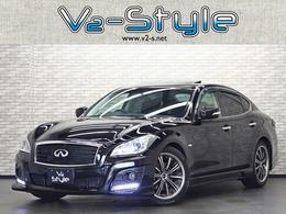 日産 フーガ 2.5 250GT タイプP 黒本革サンルーフ 新品エアロ LOWstyle