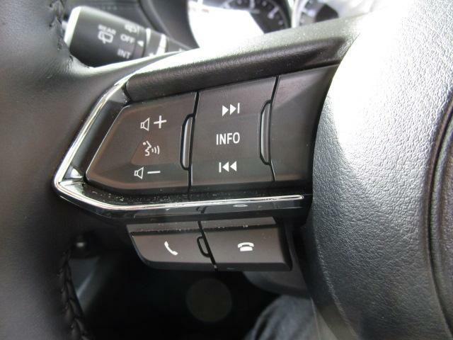 簡単なオーディオ操作が可能なステアリングオーディオスイッチを装備しております!