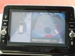 アラウンドビューモニターです☆上から車を見たような画面が見れますので、まわりの障害物などが目で確認することができる便利な機能です☆