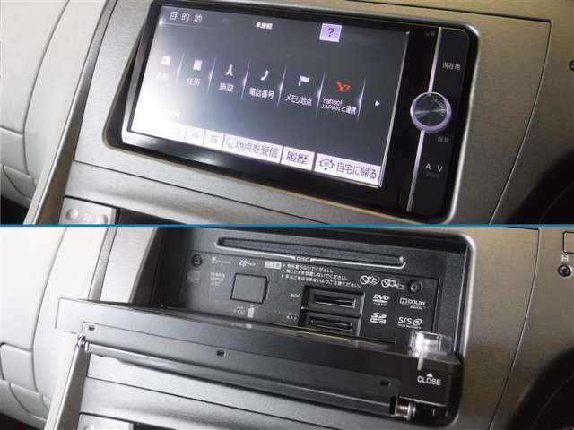 「Bluetooth」でデジタル機器の接続が可能です。目的地設定など、タッチパネル式でラクラク操作!ナビ画面が開き、CDなどの再生ができます。お好きな音楽を聴きながら快適なドライブをどうぞ。