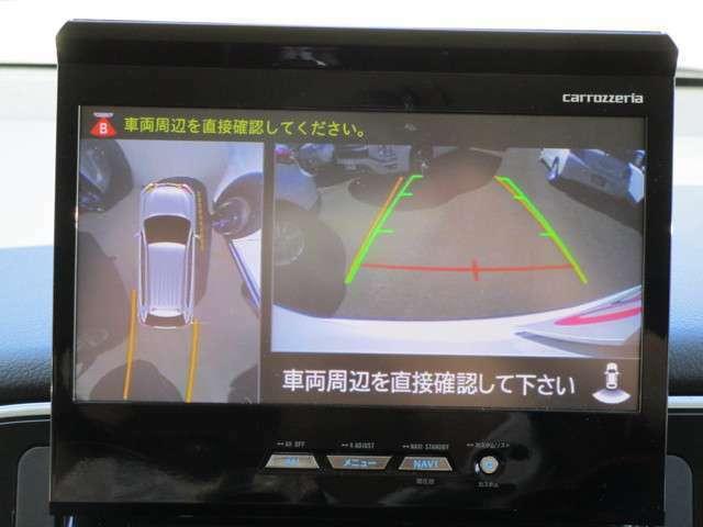 全方位カメラ映像も社外ナビへ接続できております